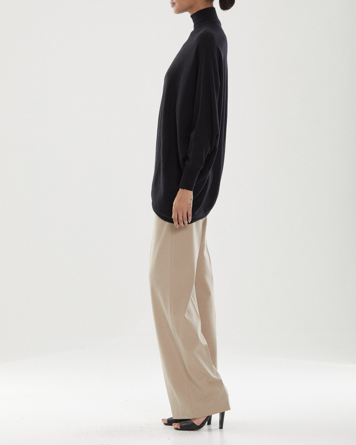 Liz T-Neck Asym Sweater