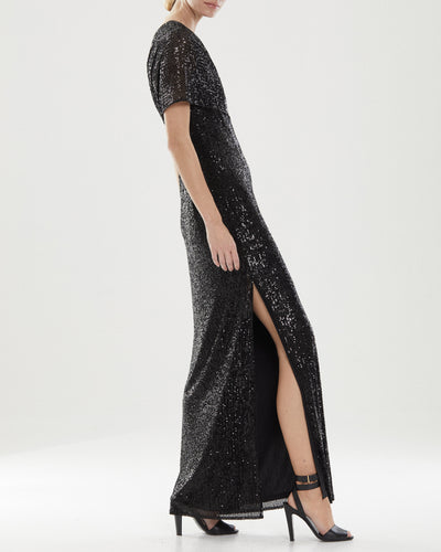 Diana Linear Sequin Gown