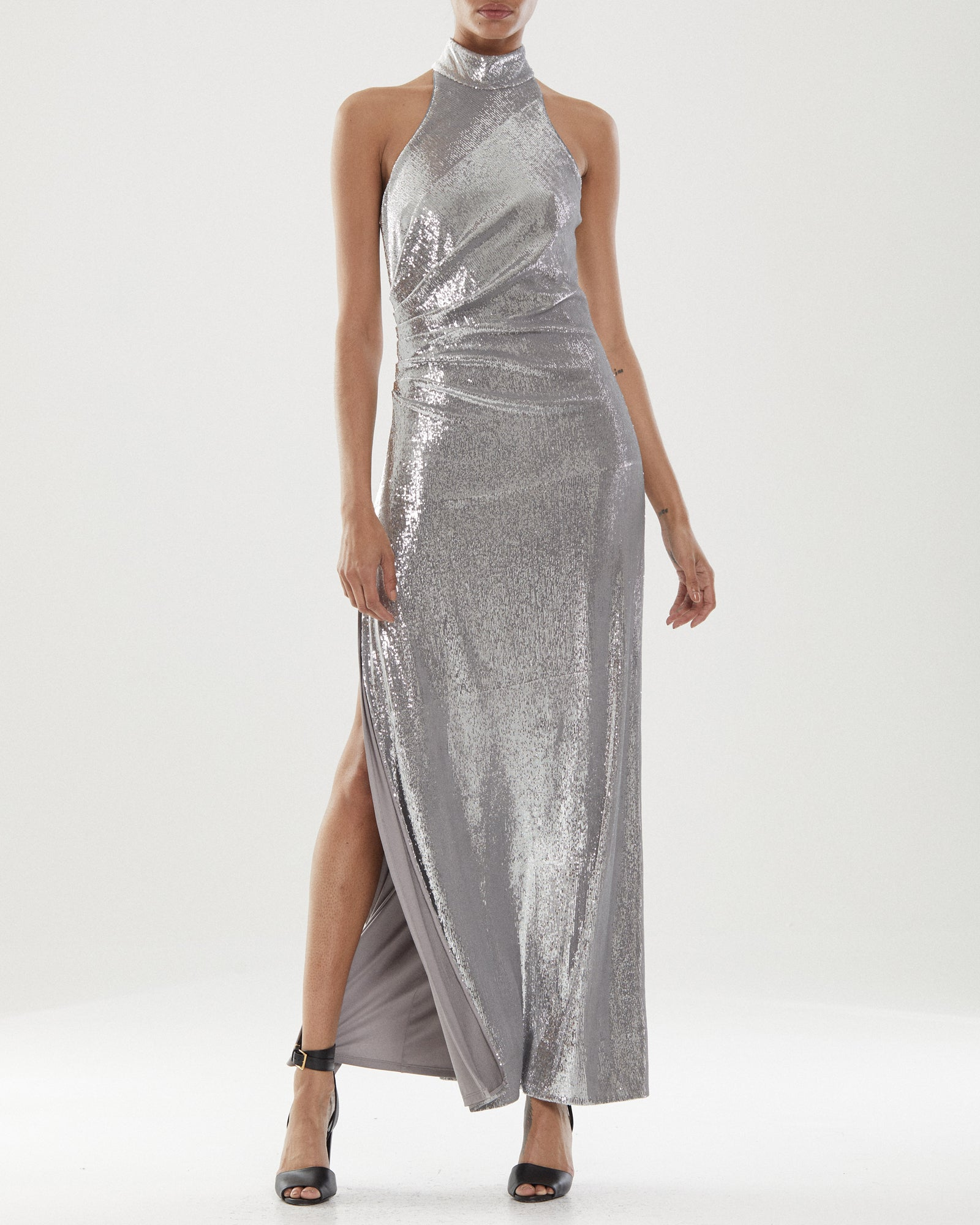 Zenia Mock Neck Gown