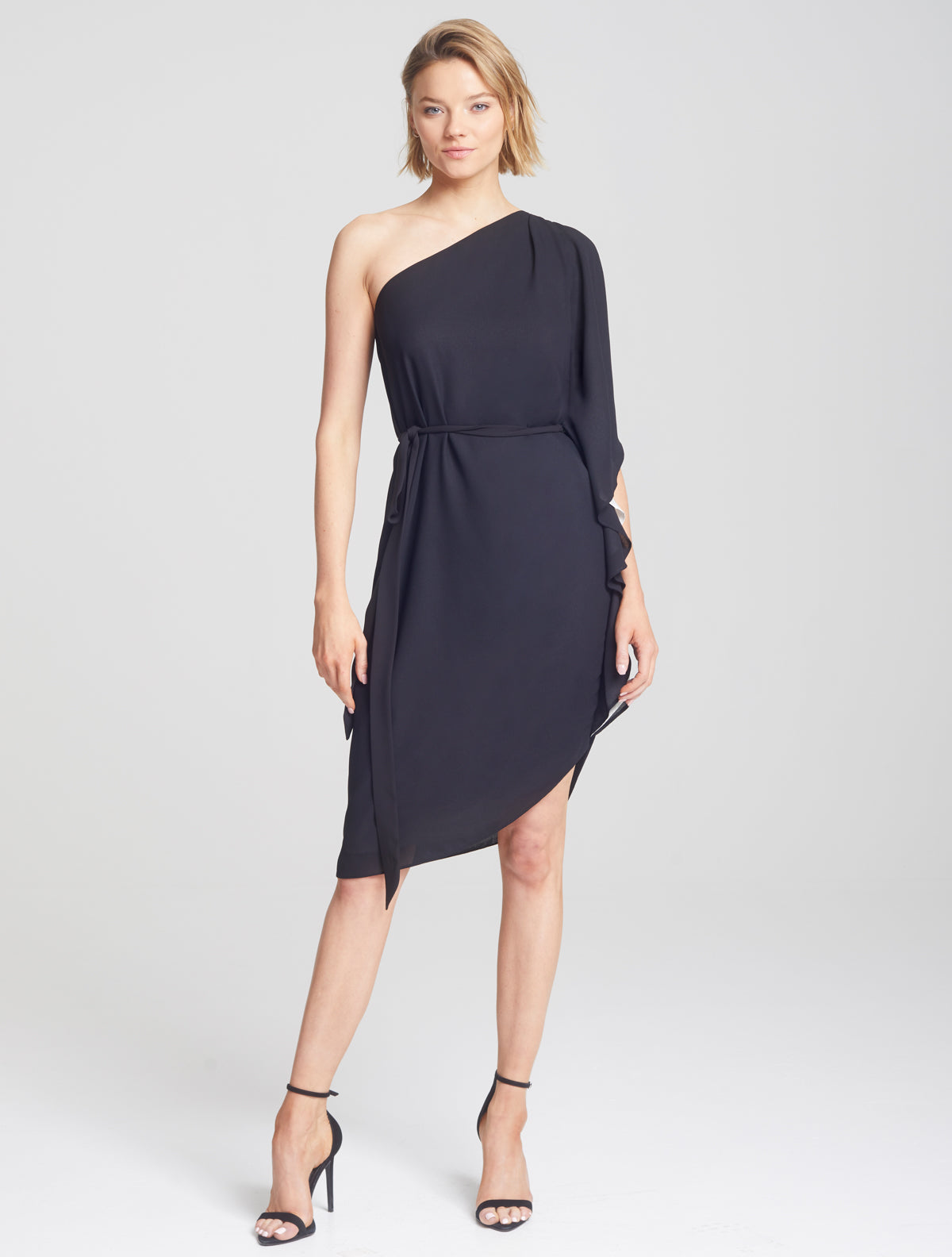 Asymmetric Flowy Dress - Halston
