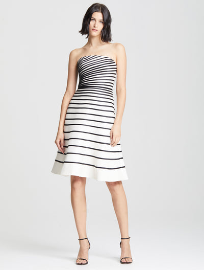 Colorblock Strip Dress - Halston