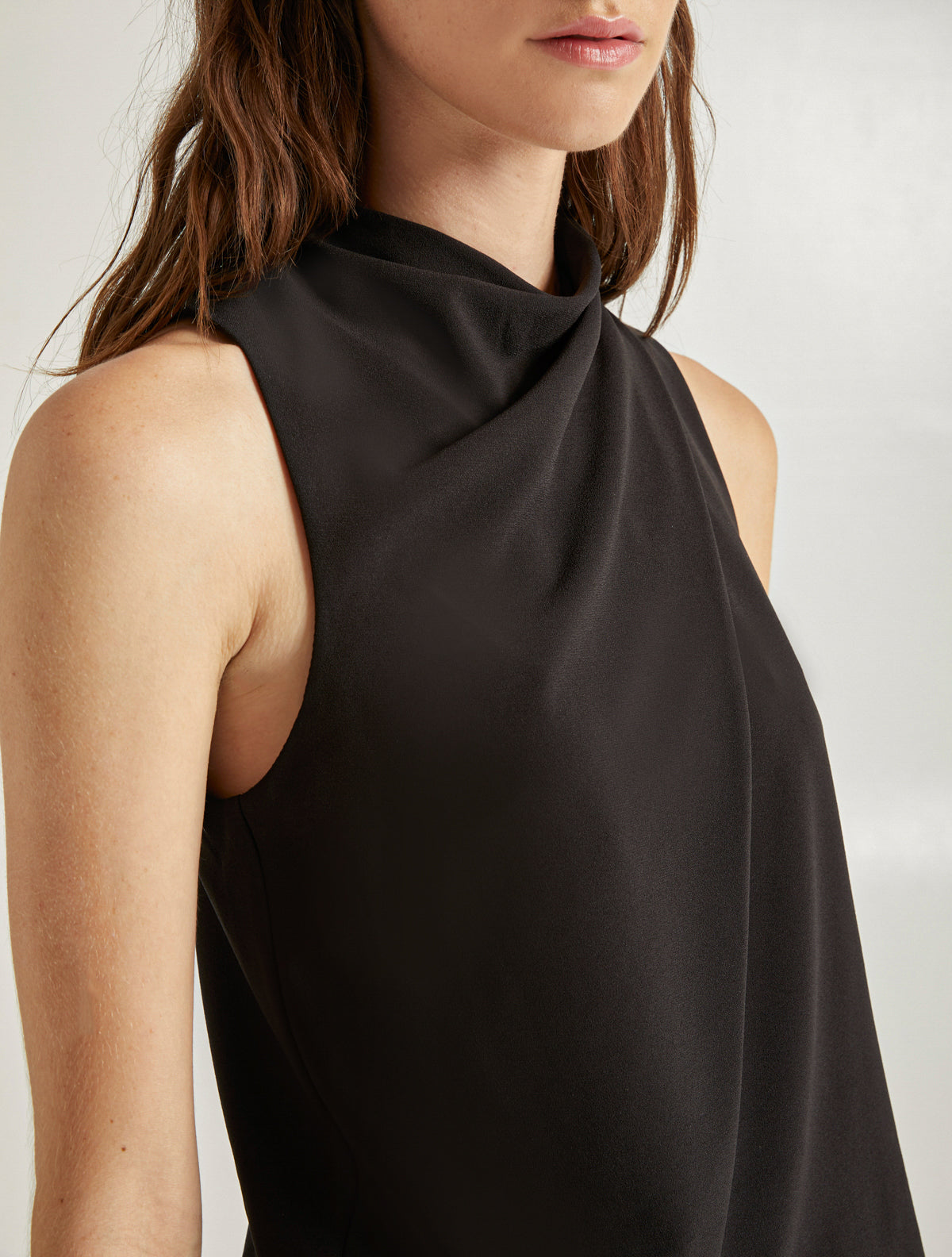 Mock Neck Dress - Halston