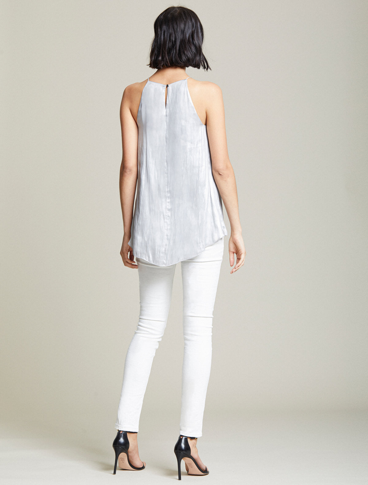 Metallic Cascade Top - Halston