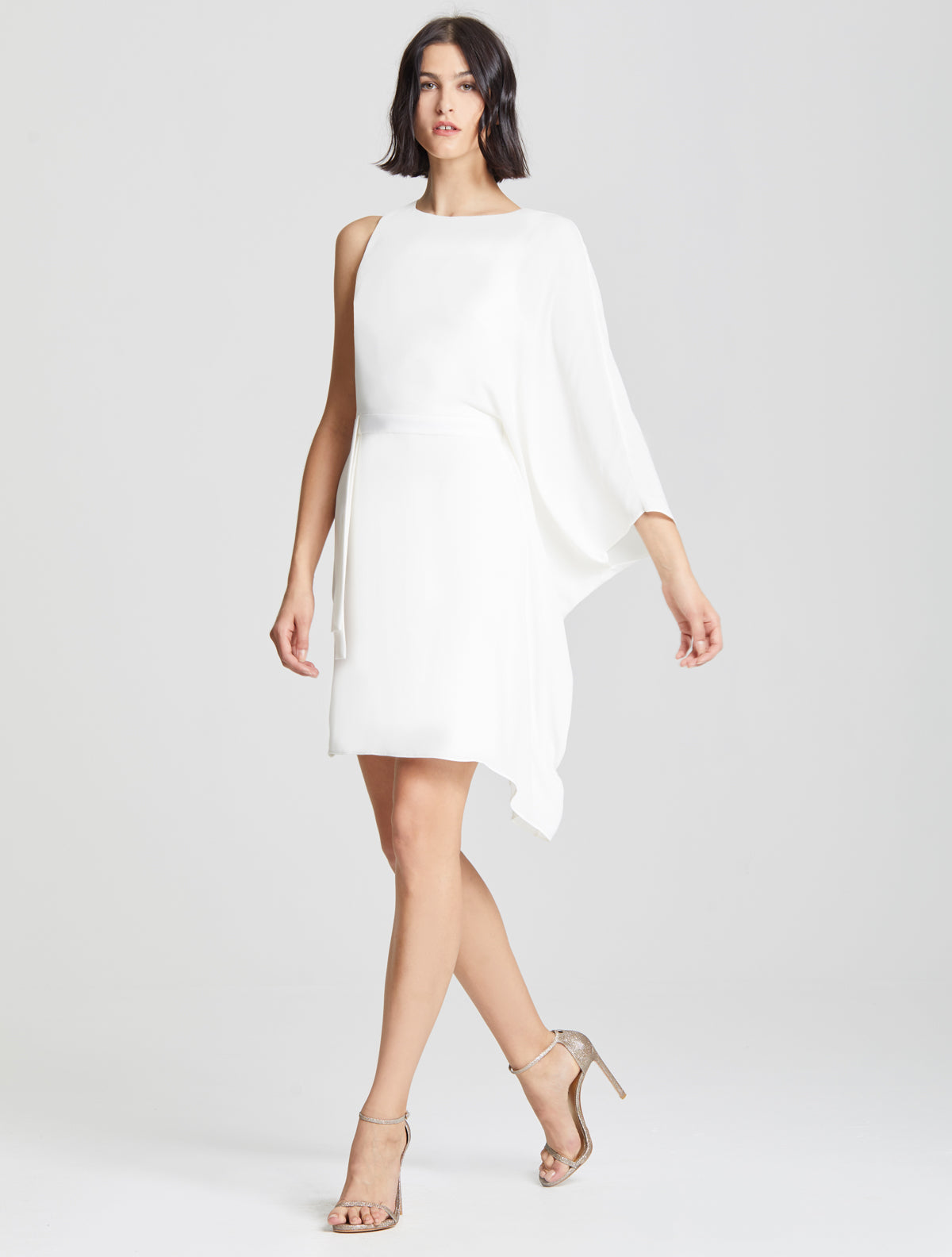 Flowy Sleeve Dress - Halston