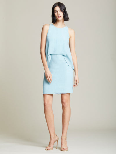 Twisted Crinkle Dress - Halston