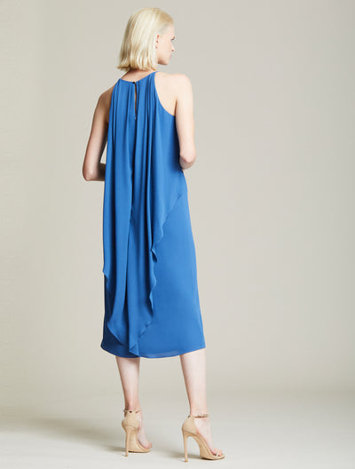 Cascade Back Dress - Halston