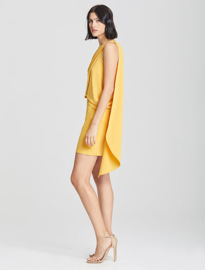 Asymmetric Drape Dress - Halston
