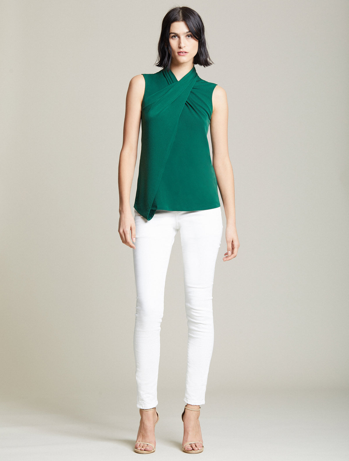 Cross Neck Top - Halston