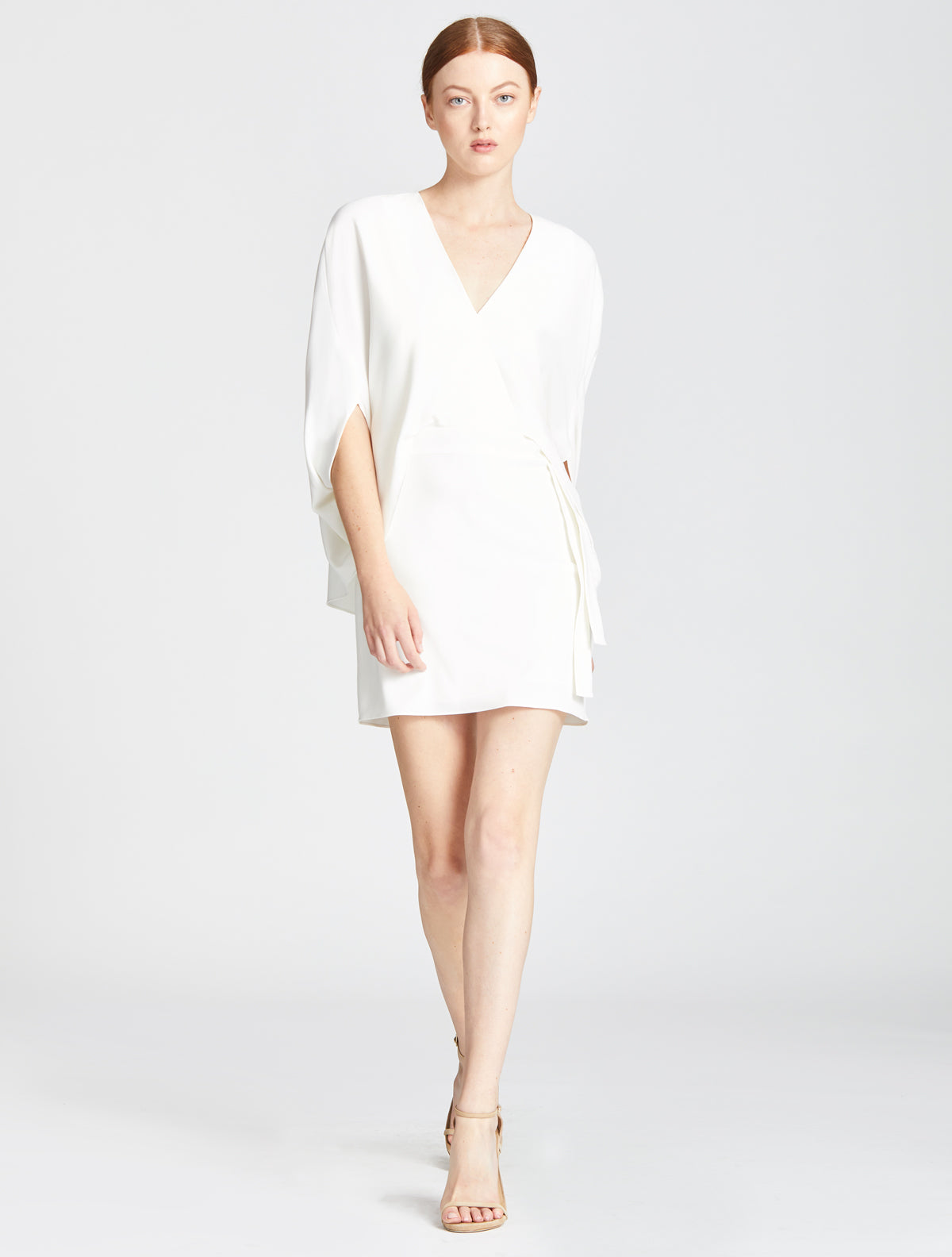 Draped Sleeve Dress - Halston
