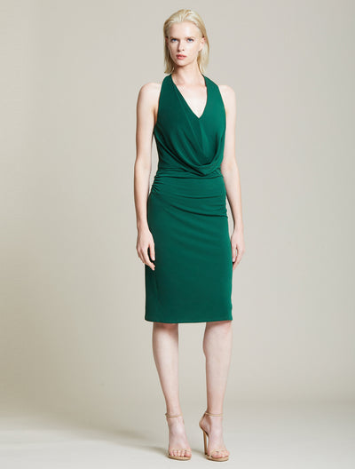 Jersey Draped Cowl Dress - Halston