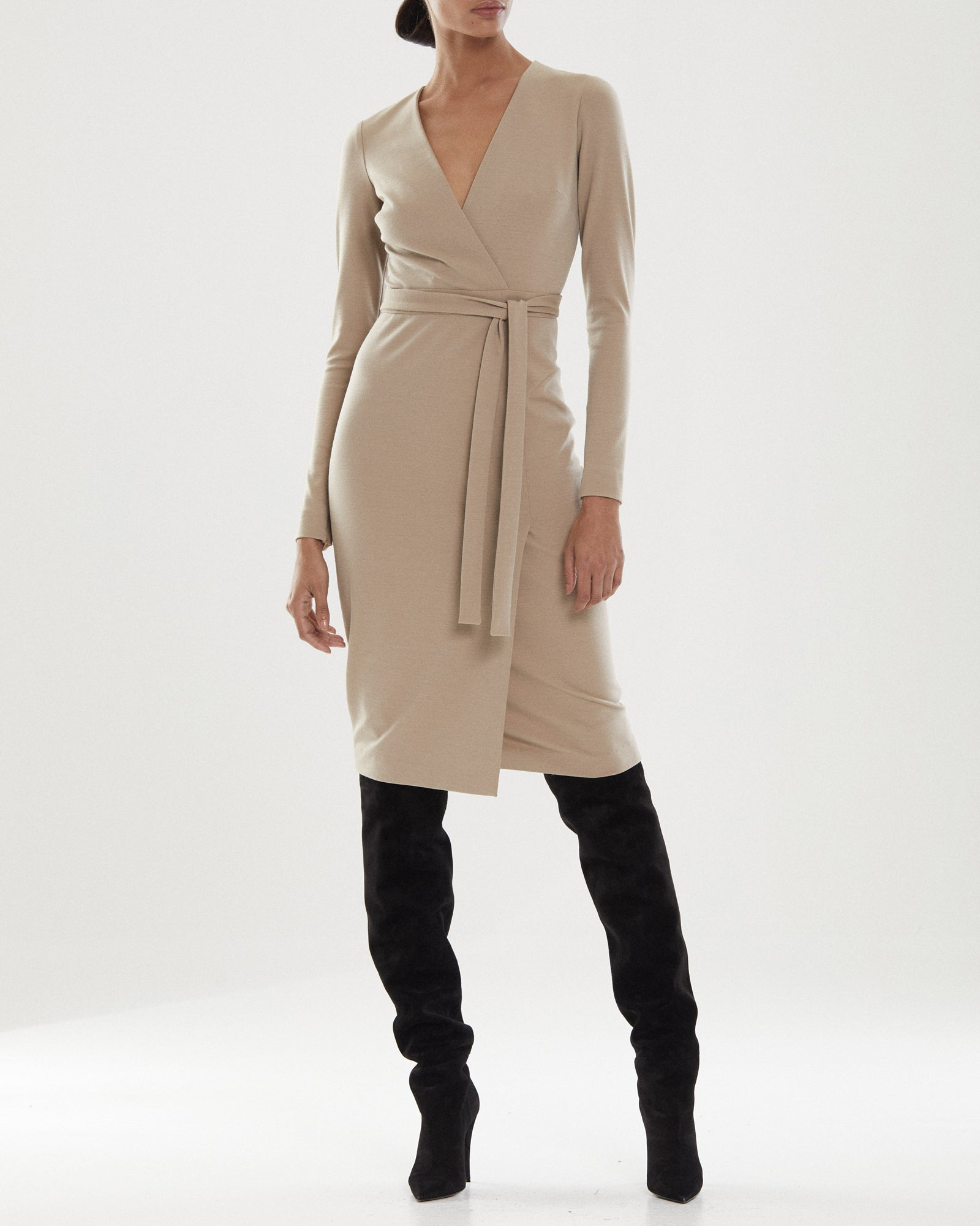 Greer Knit Suiting Dress