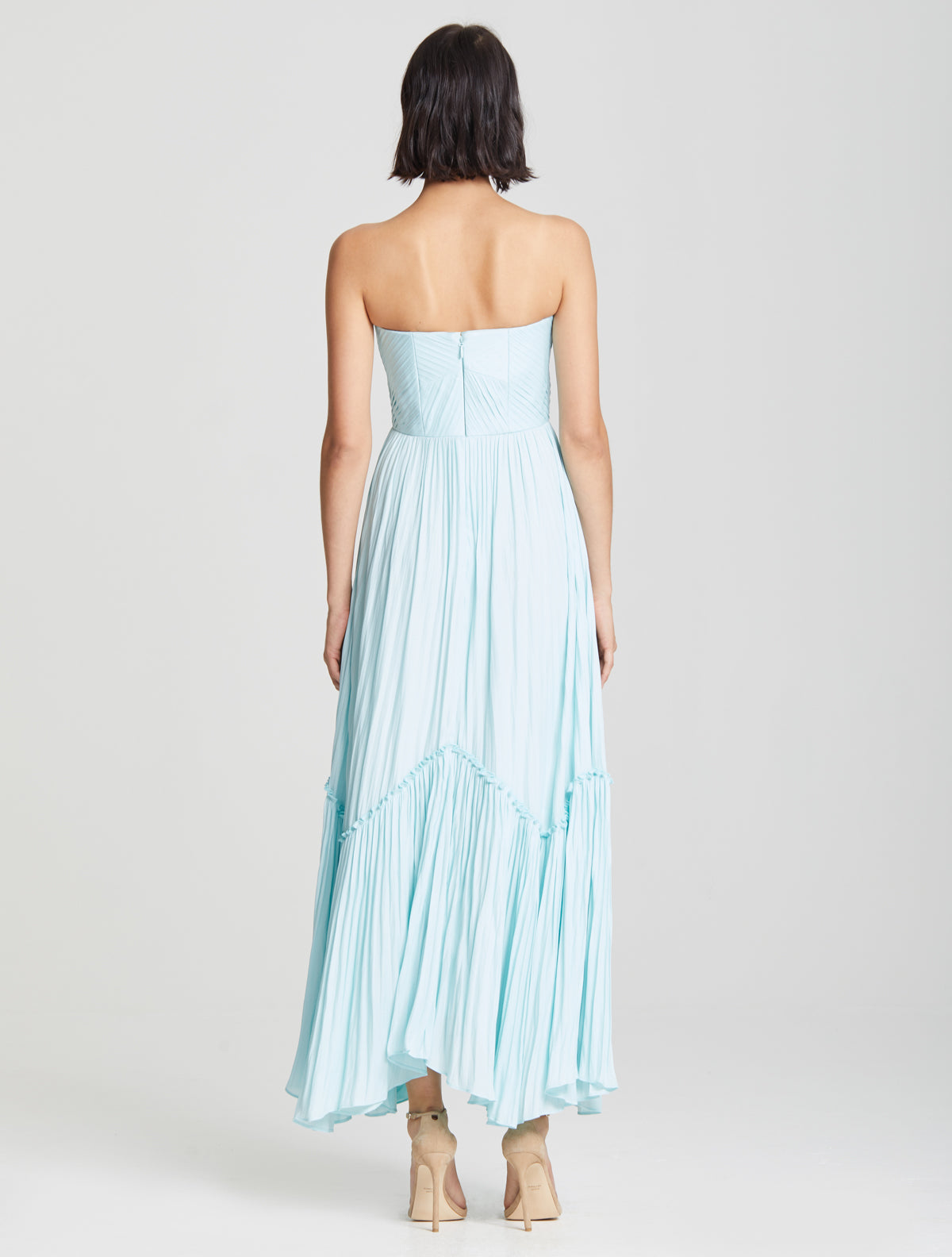 Pintuck Detail Gown - Halston