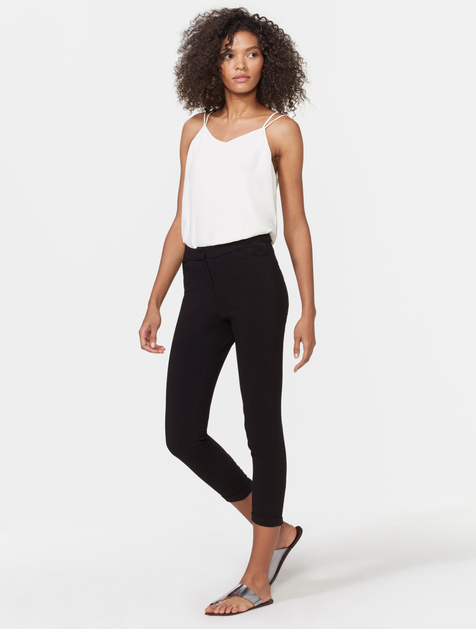 TAPERED ANKLE ZIP PANTS - Halston