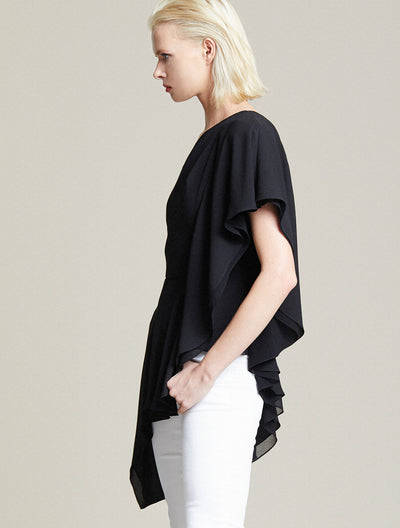 One Shoulder Drape Top - Halston
