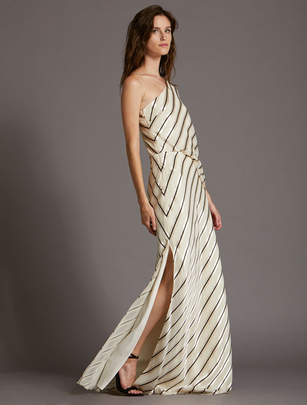 Image result for ivory big stripe gown