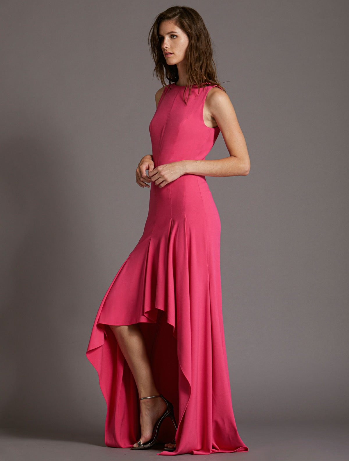 Boatneck Crepe Gown - Halston