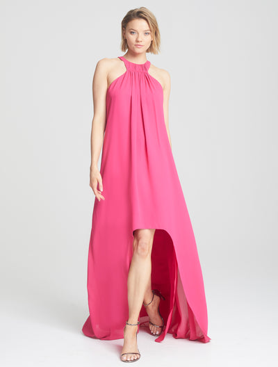Sleeveless High Low Gown - Halston