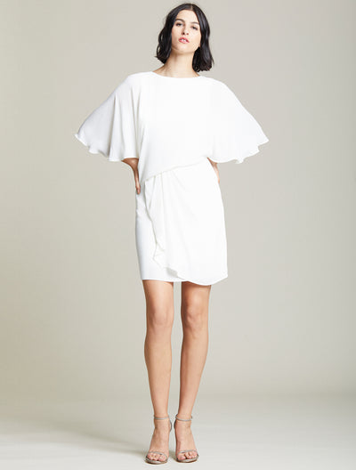 Draped Skirt Dress - Halston