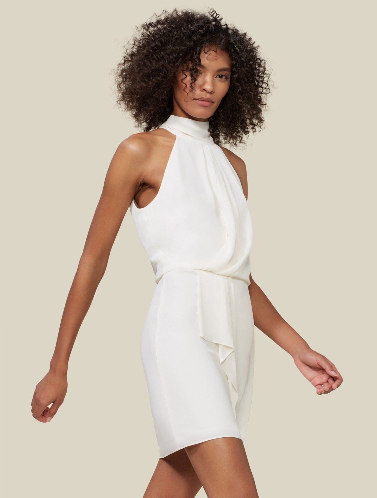 Harlow Mock Neck Dress - Halston