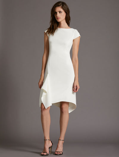 Flounce Skirt Dress - Halston