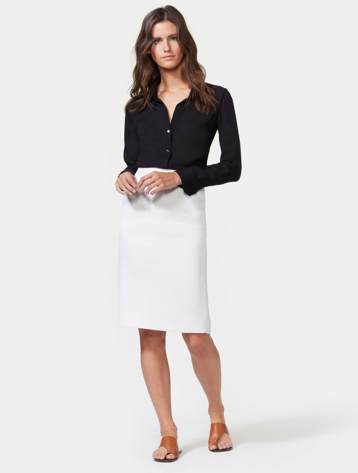 Crepe Pencil Skirt - Halston