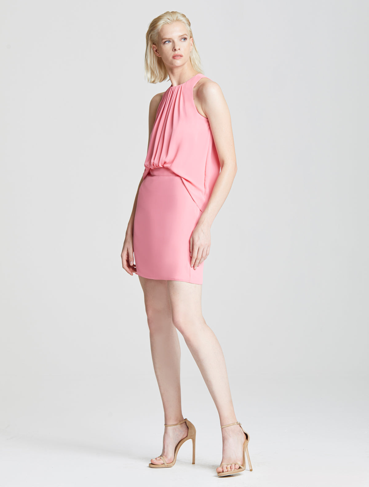 Shirred Front Dress - Halston