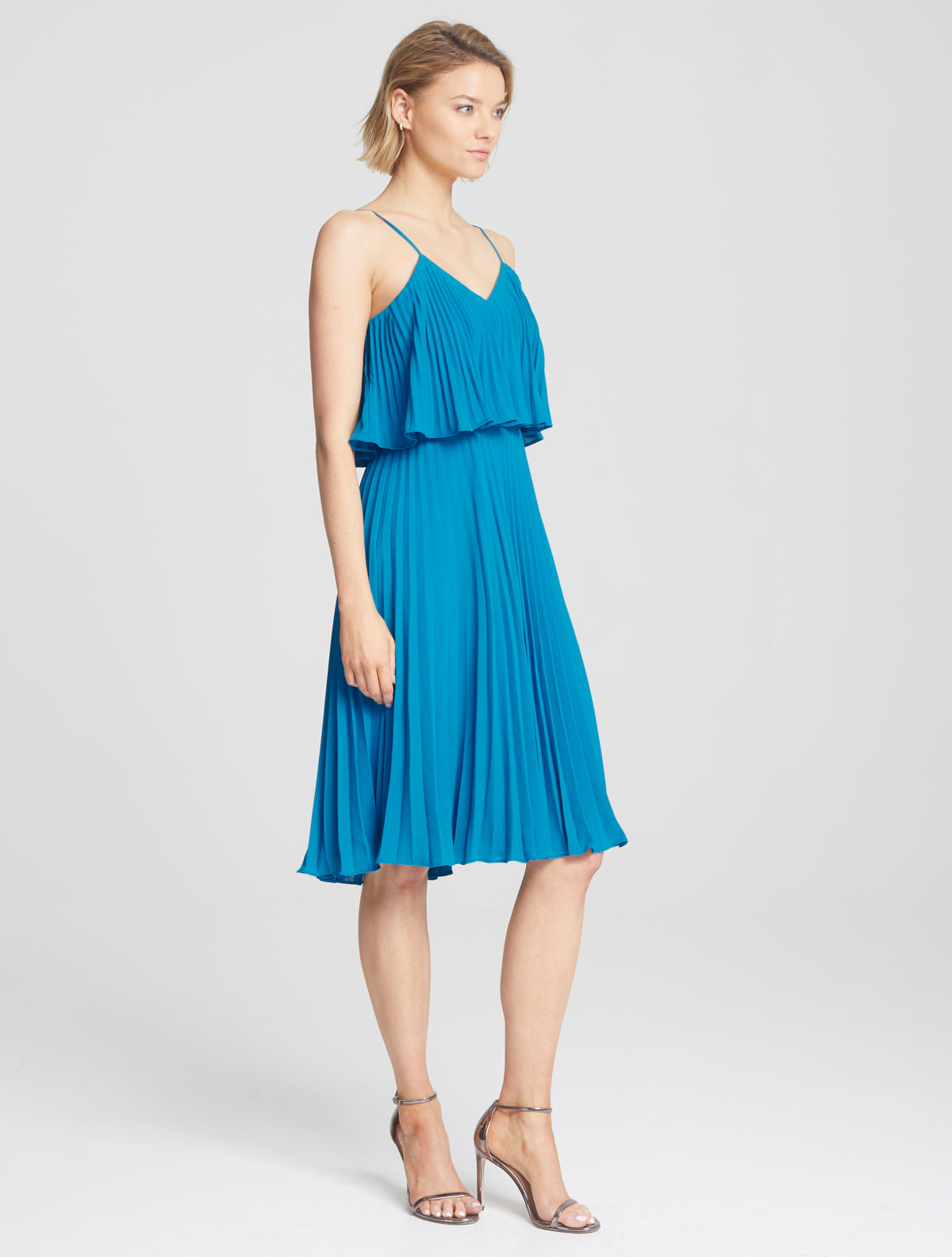 Pleated Cami Dress - Halston