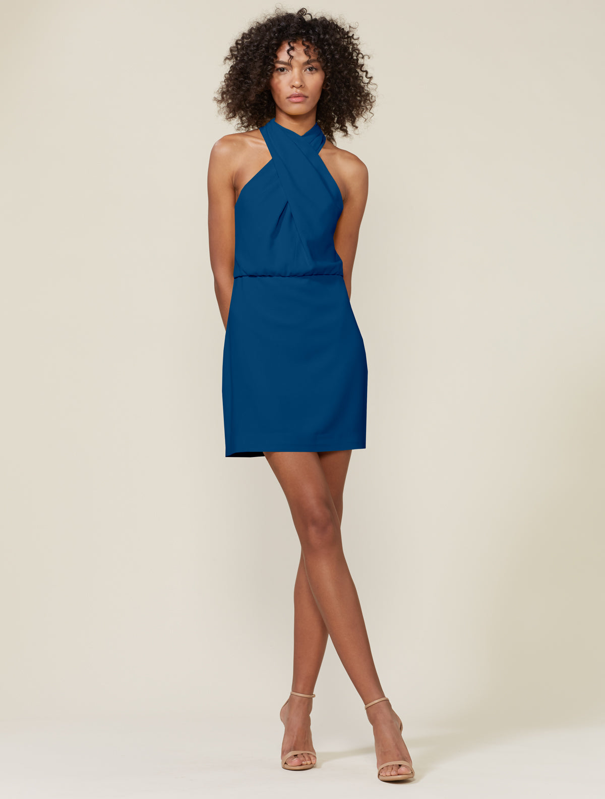 Alix Cross Neck Dress - Halston