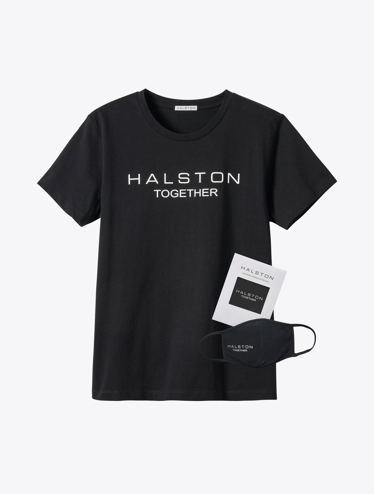 Halston Together Organic Cotton Crew Neck - Black