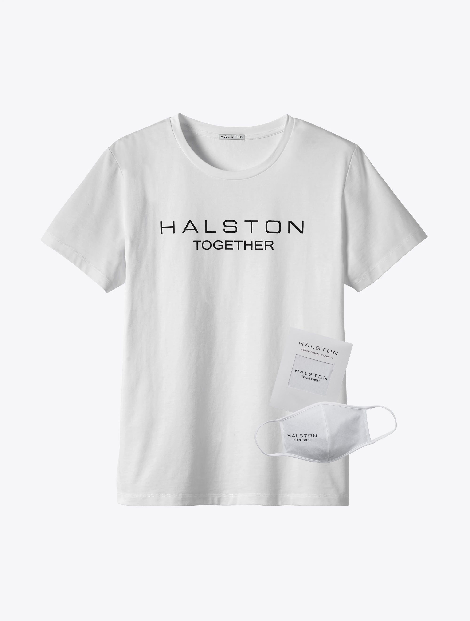 Halston Together Organic Cotton Crew Neck - White