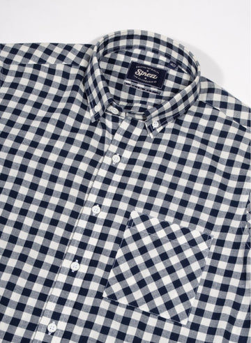 Light Gingham Flannel Button Down Shirt