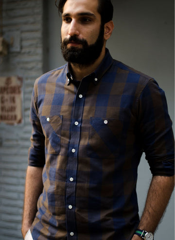 Light Flannel Button Down Shirt