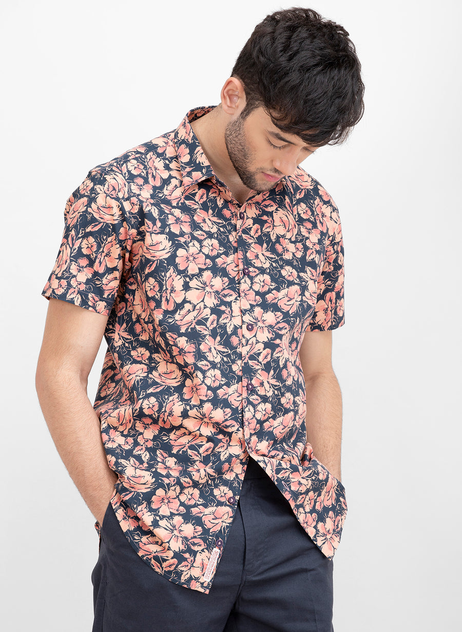 Morris Bloom Floral Half Sleeves Shirt