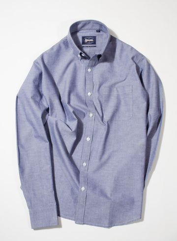 Blue Oxford Button Down Slim Fit Shirt