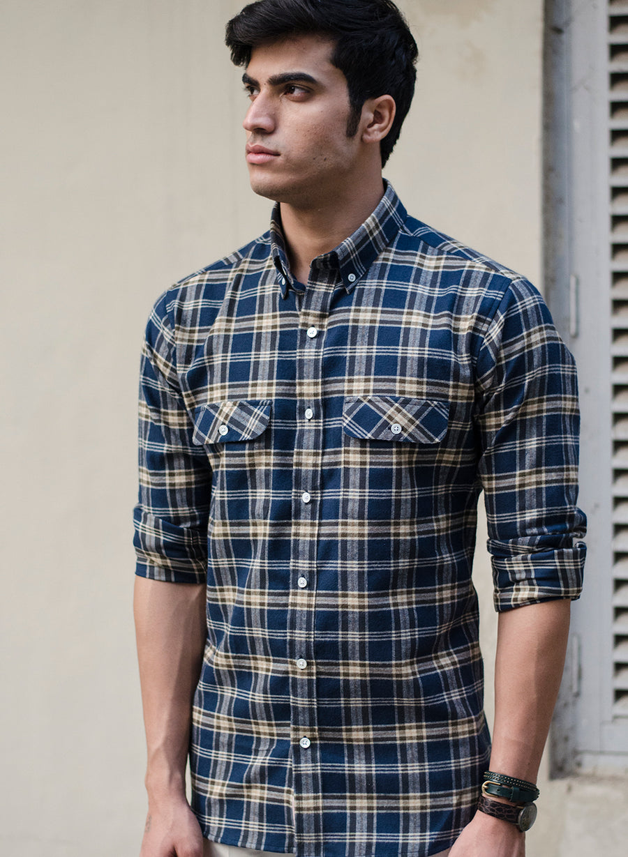 Lumber Jack Brushed Flannel Check Button Down Shirt