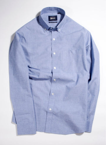 Sky Blue Fil A Fil Button Down Shirt