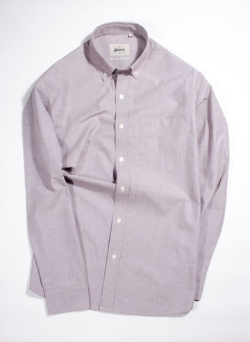 Dusty Maroon Fil A Fil Button Down Shirt