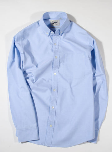 Sky Blue Oxford Button Down Slim Fit Shirt