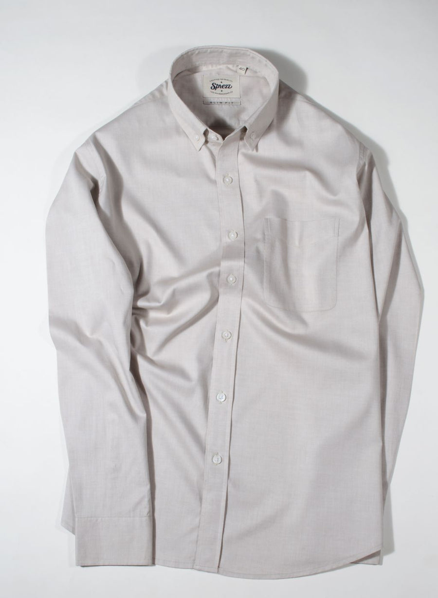 Faun Chambray Button Down Slim Fit Shirt