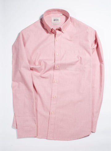 Salmon Fil A Fil Button Down Shirt