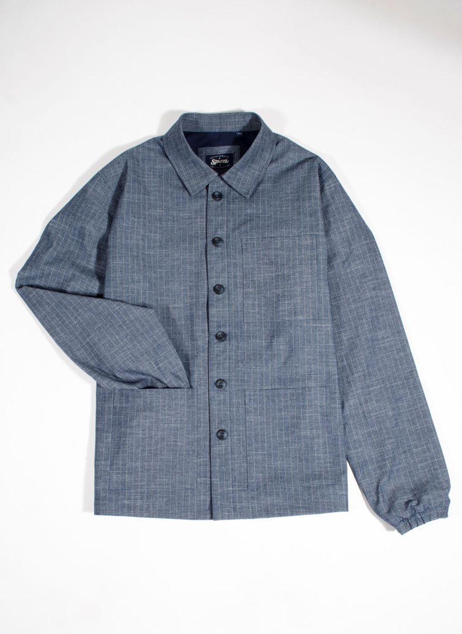 Denim Stripe Worker Jacket