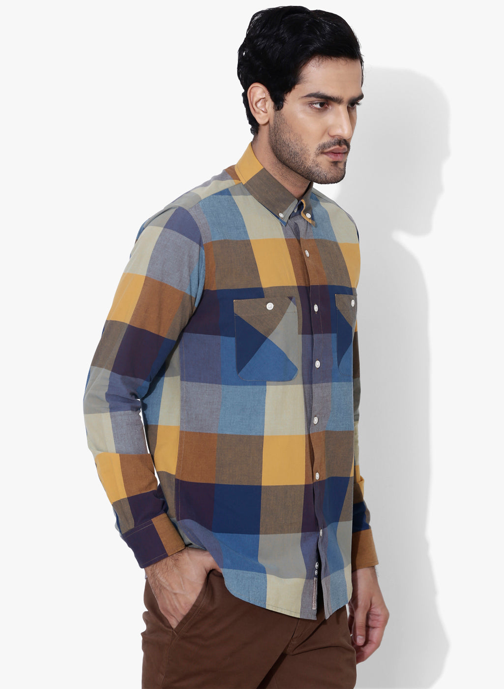 Hipster Check Button Down Shirt
