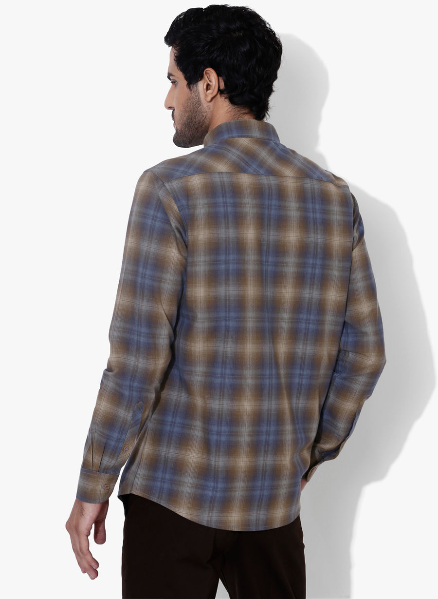 Branché Check Button Down Shirt
