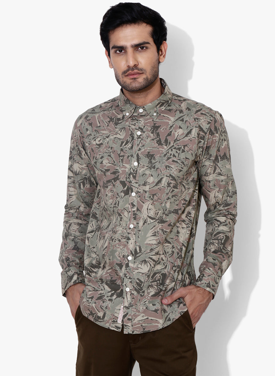 Urban Camo Button Down Shirt