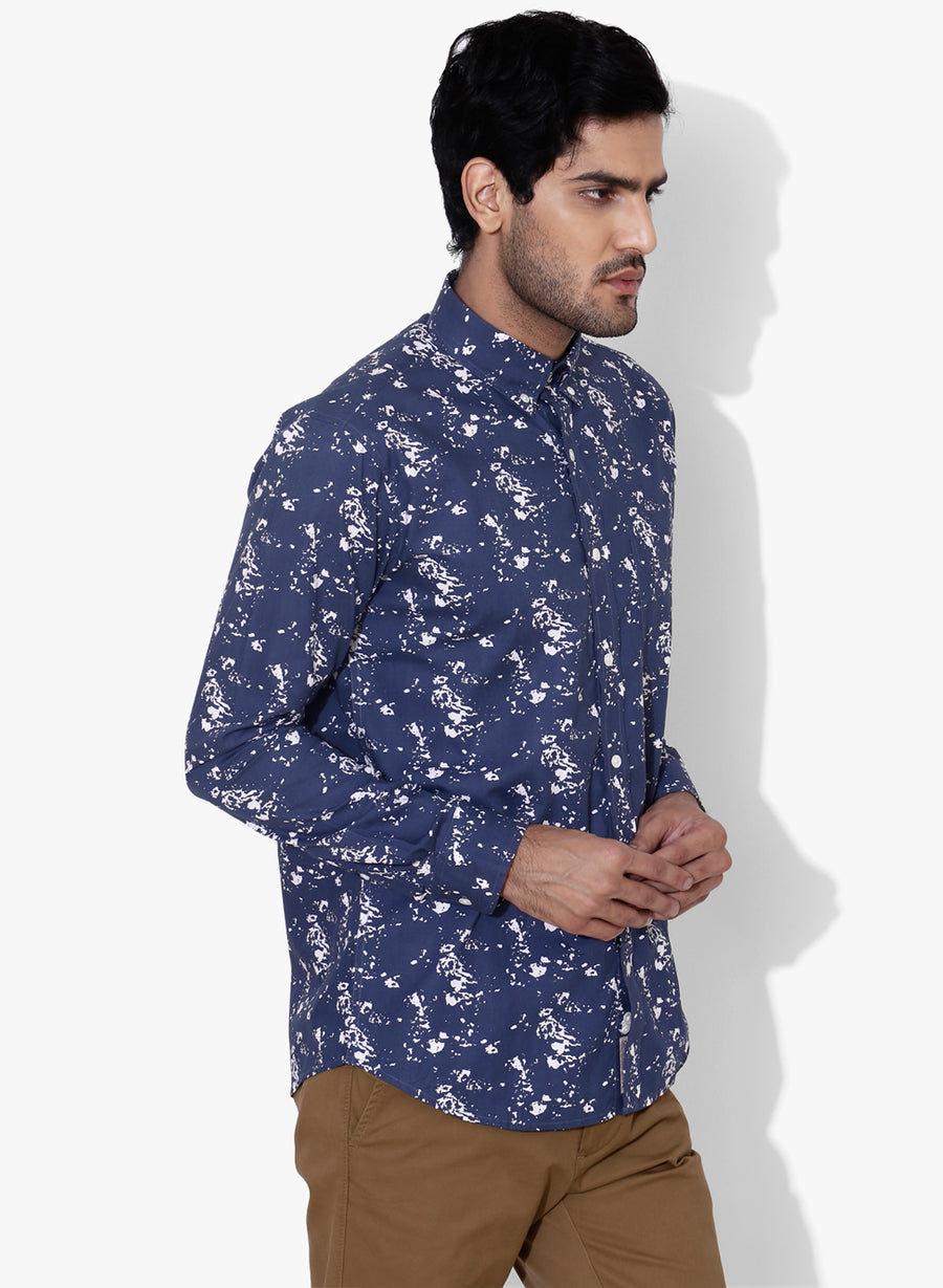 Drift Print Full Sleeves Slim Fit Shirt