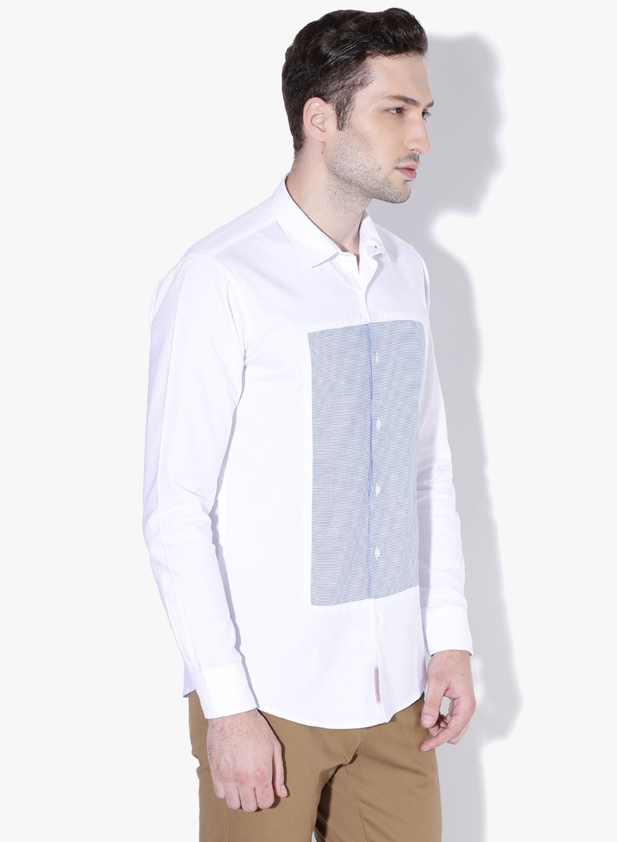 Kukei Color Block Oxford Slim Fit Shirt