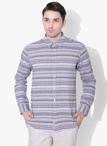 Nordic Striper Full Sleeve Button Down Shirt