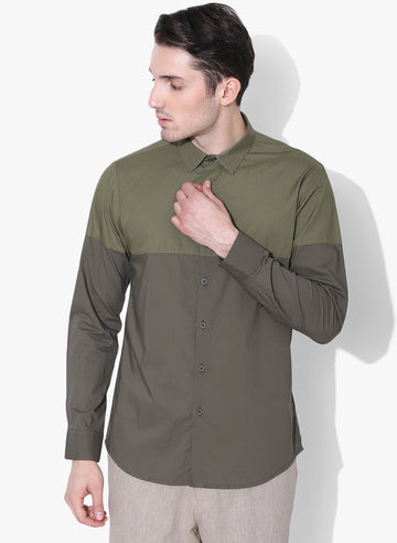 Oribu Color Block Shirt