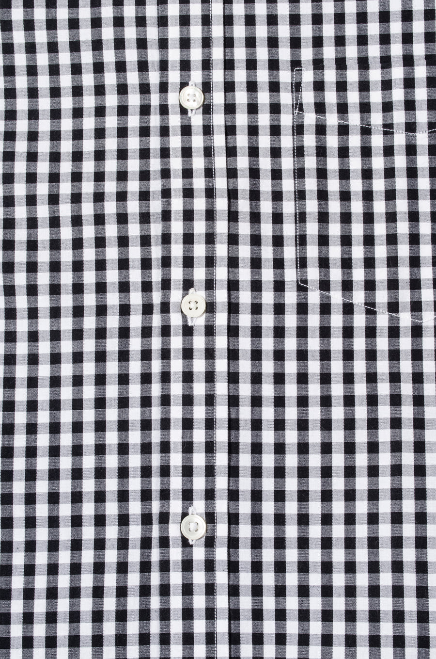 Black & White Gingham Check Button Down Slim Fit Shirt