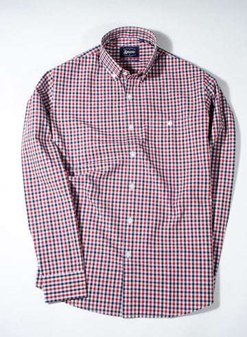 Donegal Multi Gingham Check Button Down Slim Fit Shirt
